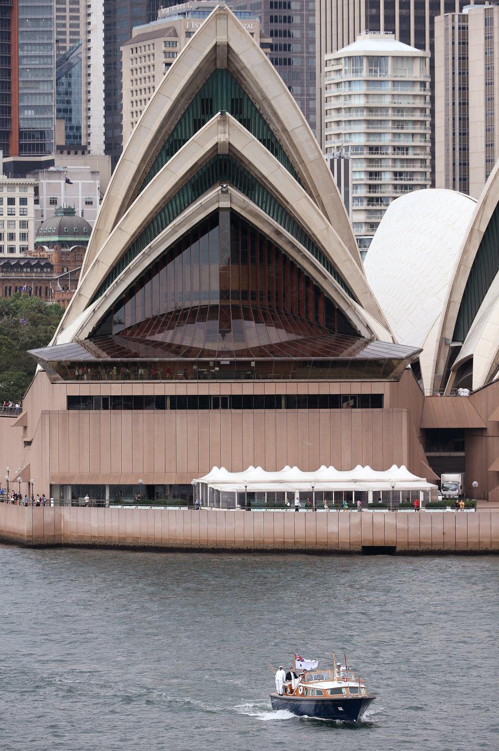 Pohľad na Sydney Opera House z menej známej perspektívy.