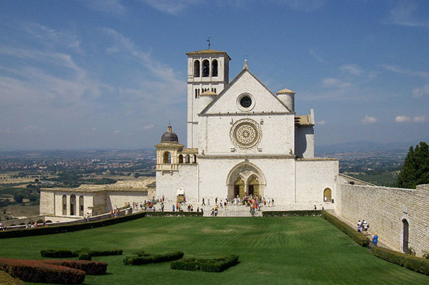 Bazilika sv. Františka v Assisi.