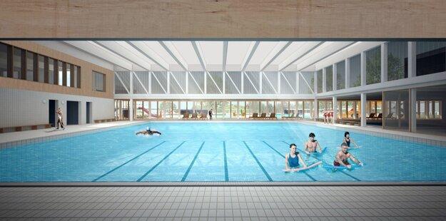 Bazénová hala podľa víťazného návrhu.