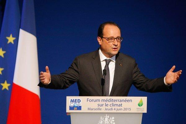 Hollande upozornil, že Stredozemné more je jedným z miest najviac citlivých na zmeny klímy.