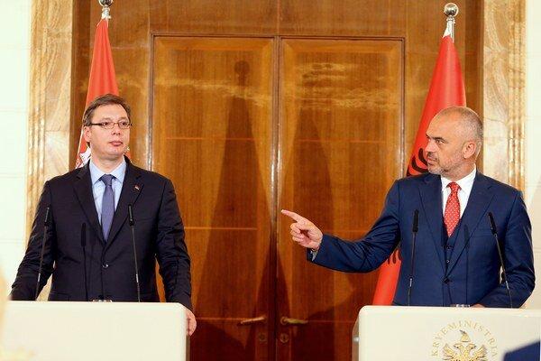 Aleksandar Vučič s albánskym premiérom Edim Ramom.