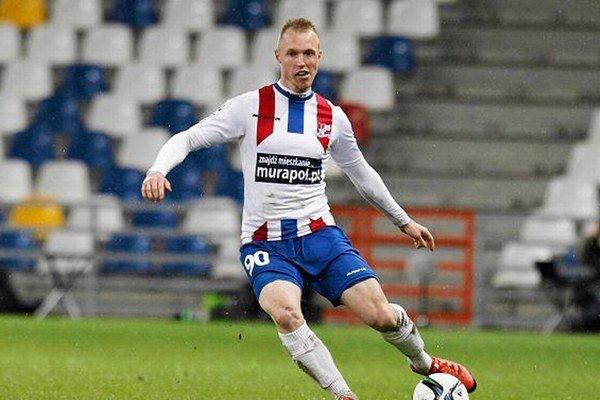 Kristián Kolčák v drese prechádzajúceho klubu TS Podbeskidzie Bielsko-Biala.