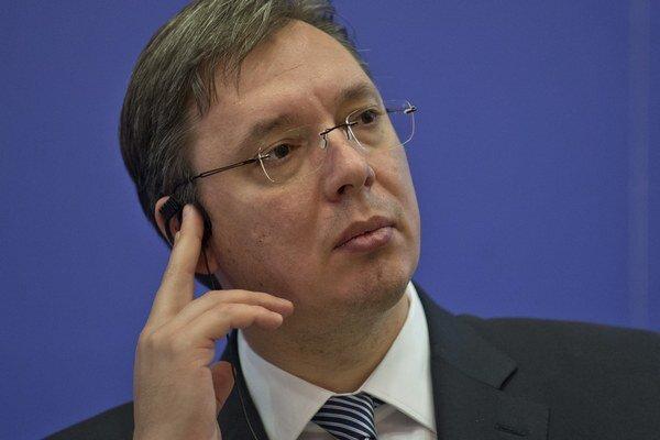 Srbský premiér Aleksandar Vučič.