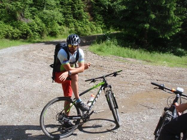 Na bicykli v beskydských horách.