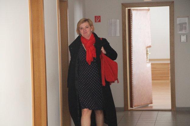 Kľúčová svedkyňa Dagmar Melotíková po minulom pojednávaní.
