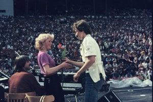 Vystúpenie skupiny Modus v Bojniciach v roku 1980.