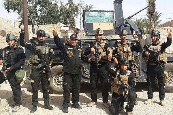 Členovia irackej jednotky v Ramádí.