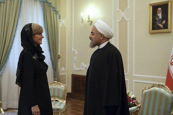 Ministerka zahraničných vecí Julie Bishopová bola prvou šéfkou austrálskej diplomacie, ktorá navštívila Irán za posledné desaťročie.