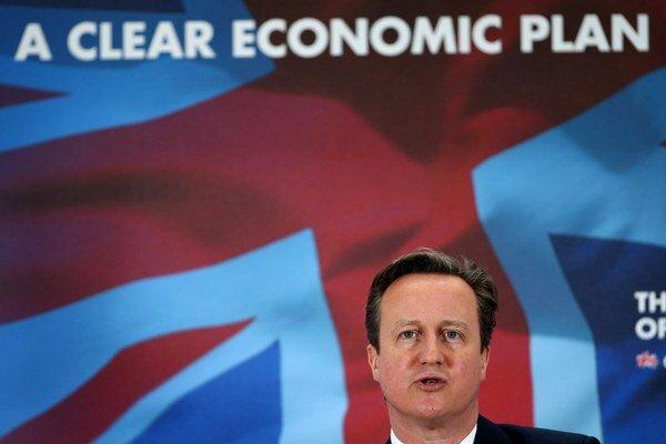 Líder konzervatívnej strany a premiér David Cameron.