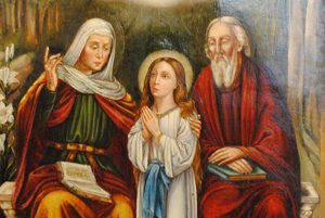 Aurel Gyagyovský – Sv. Joachim a Sv. Anna s dcérou Máriou.
