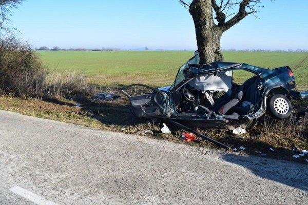 Táto nehoda sa stala tento rok koncom februára na ceste medzi Horným a Dolným Dubovým.Mladý šofér zahynul priamo na mieste.