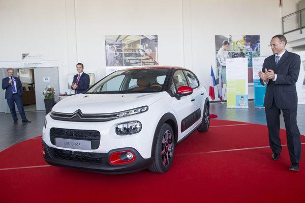 Odchádzajúci šéf trnavskéh závodu Rémi Giradon vlani v júni predstavil nový model Citroën C3.
