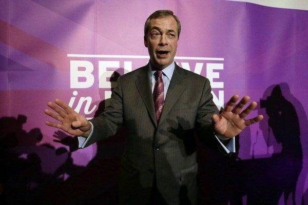 Líder strany UKIP Nigel Farage.