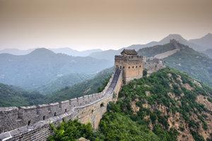Pohľad na Veľký čínsky múr.