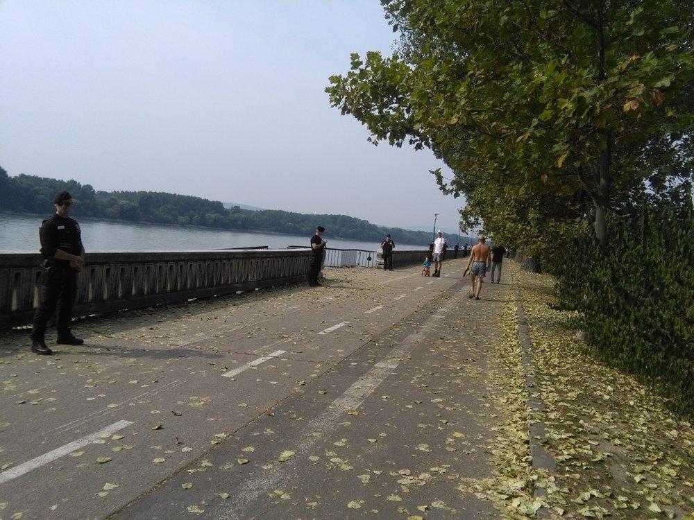 Nábrežie Dunaja v Bratislave.