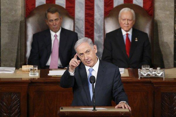 Prejav izraelského premiéra bojkotovali desiatky členov amerického Kongresu.