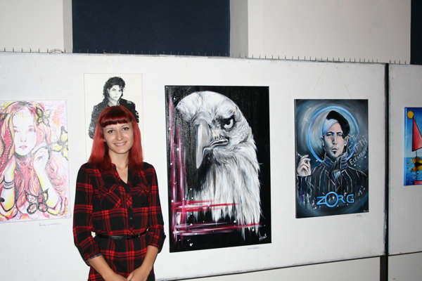 Autorka vystavovaných obrazov Martina Čajagiová.