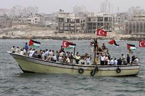 Palestínčania na rybárskej lodi.