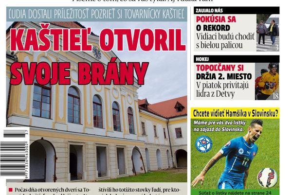 cac7b10b2 Aktuálne vydanie MY Topoľčianske noviny Dnešok v predaji
