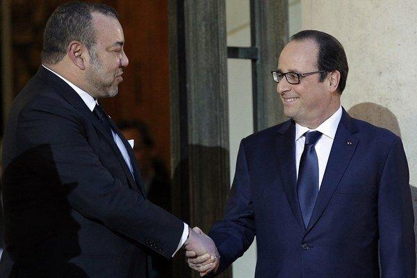 Francúzsky prezident Francois Hollande a marocký kráľ Muhammad VI. sa stretli v Paríži.