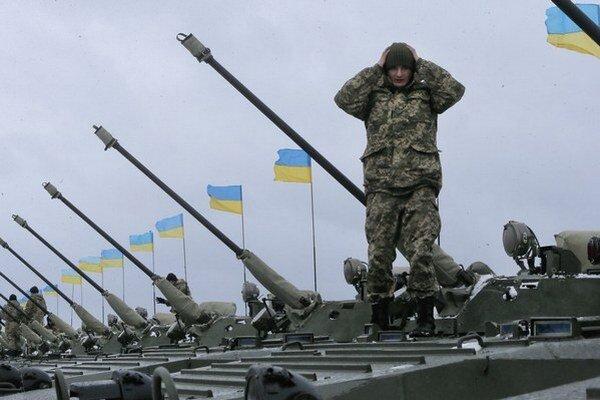 Ukrajinské delostrelectvo.