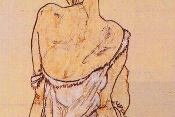 Egon Schiele: Sediaca žena