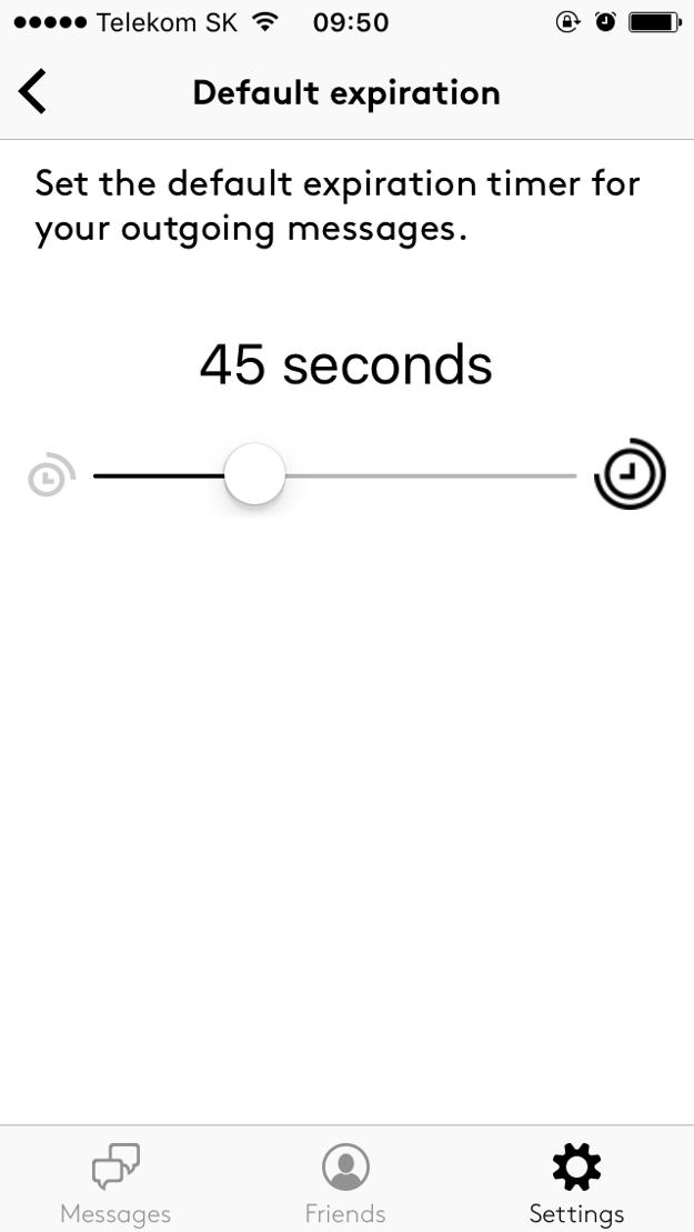 Nastavenie času, po ktorom sa otvorená správa automaticky vymaže.