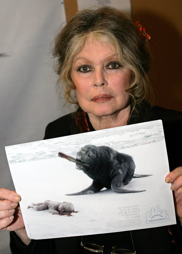 Brigitte bojuje aj proti lovu tuleňov