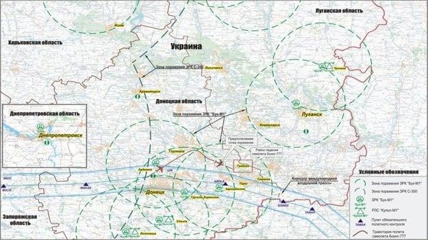 V júli 2014 prezentovalo Rusko iné zábery z radaru - podľa nich lietadlo výrazne zmenilo smer tesne predtým, ako ho zostrelili.