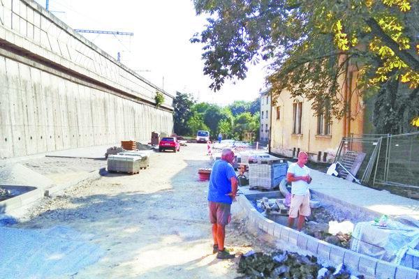 Parkovisko je už krátko pred dokončením.