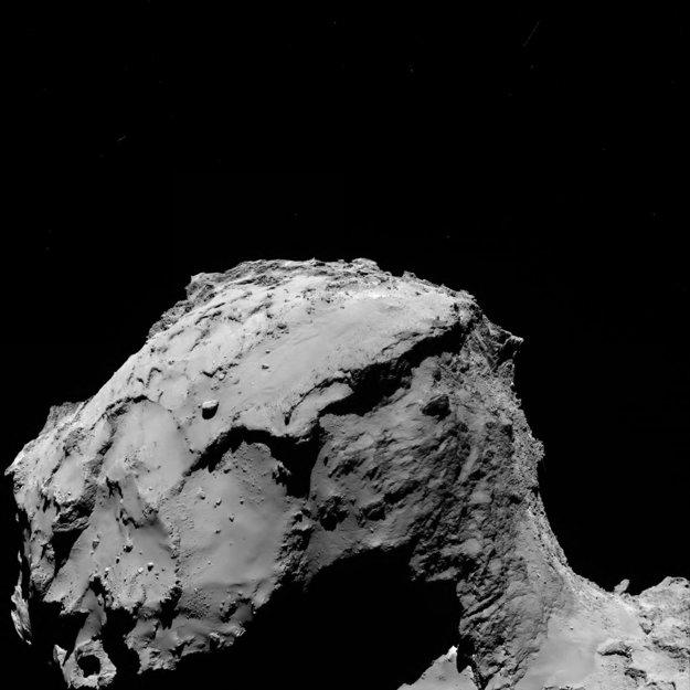 Bližší záber na hlavu kométy 67P