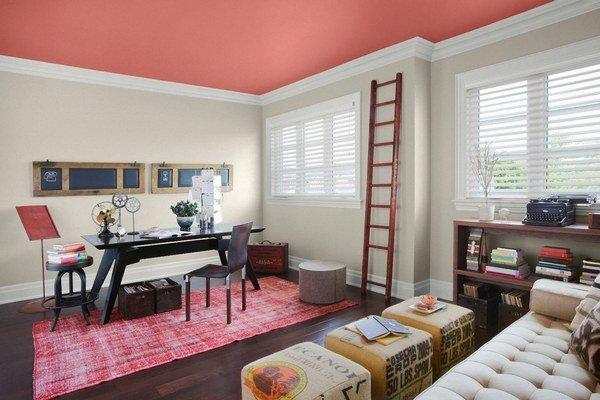 Zvoľte opačný postup pri maľovaní. Nechajte steny biele a použite farbu na strope.
