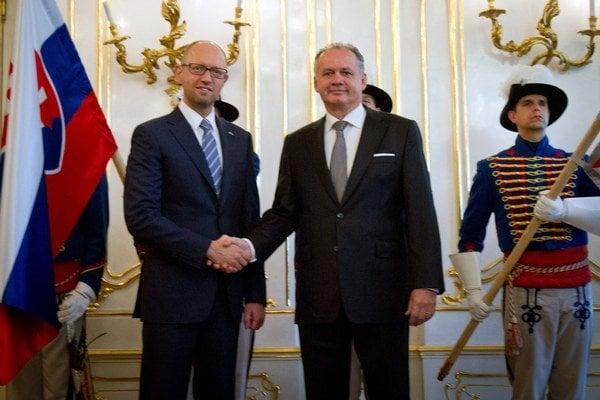 Prezident Kiska prijal ukrajinského premiéra.