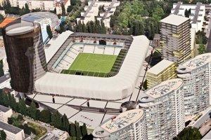 Vizualizácia štadióna.