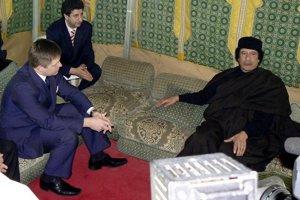 S Muammarom Kaddáfím rokoval aj slovenský premiér Robert Fico.