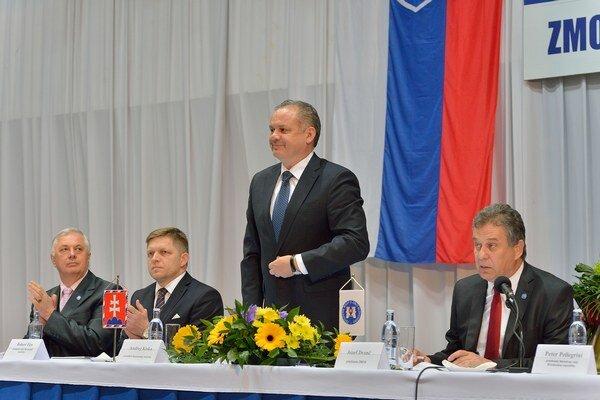 Andrej Kiska na zasadnutí snemu ZMOS.