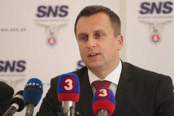 Predseda Slovenskej národnej strany (SNS) Andrej Danko.