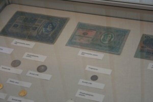 Mince a bankovky sú vystavené v Hornonitrianskom múzeu v Prievidzi.