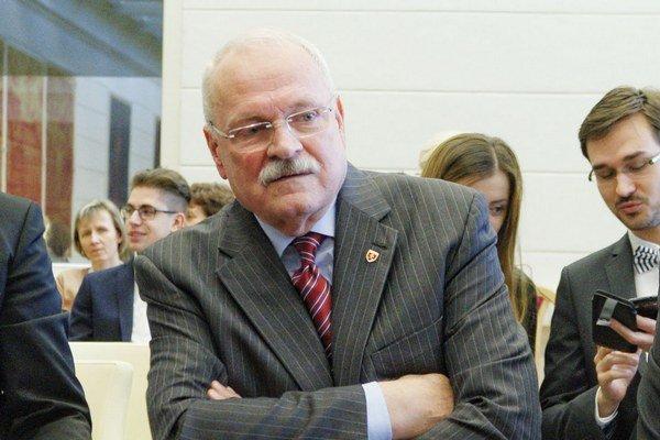 Ivan Gašparovič na verejnom zasadnutí senátu Ústavného súdu.