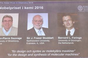 Laureáti Nobelovej ceny za chémiu za rok 2016.