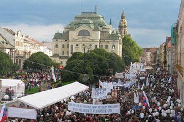 Prvý pochod bol v Košiciach pred rokom, druhý bude o rok.
