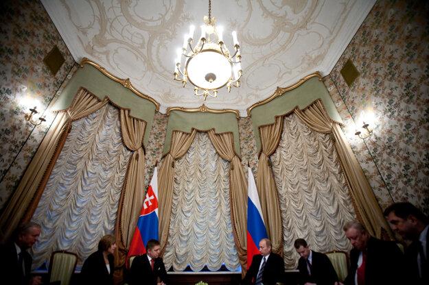 Putin na návšteve Slovenska v roku 2009.