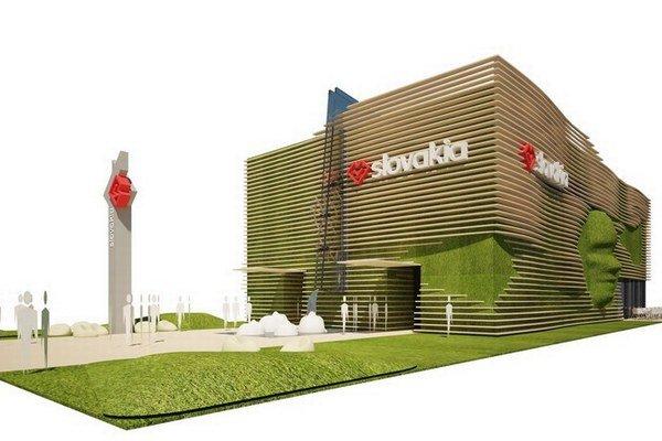 Vizualizácia slovenského pavilónu, postavia ho na jeseň.