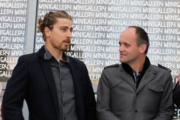 Peter Sagan s trénerom Petrom Zánickým, ktorý ho viedol, keď bol juniorom.