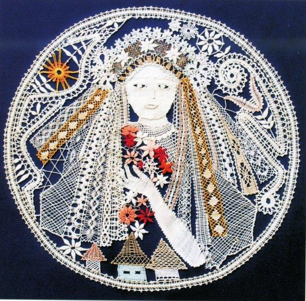 Takto stvárnila M. Čobrdová portrét nevesty.