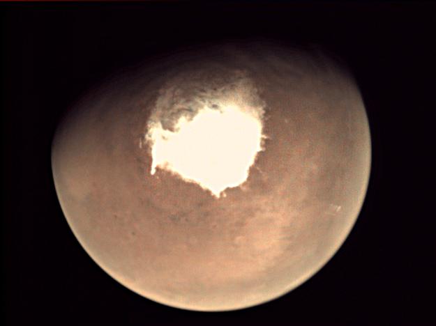 Fotografia Marsu z tejto nedele, keď sa Schiaparelli oddelil od sondy TGO.
