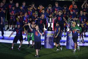Víťazi Ligy majstrov, futbalisti FC Barcelona.