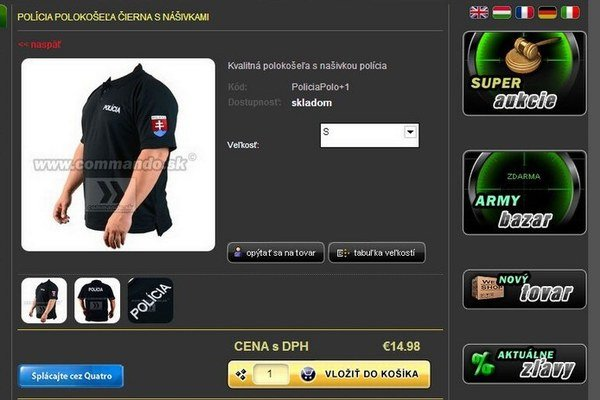 Policajti nakupujú aj na webe. Niektoré obchody nekontrolujú, či je kupujúci naozaj policajt.