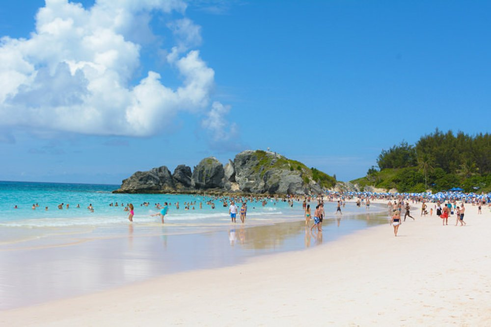 Horshoe Bay Beach. Bermudy.
