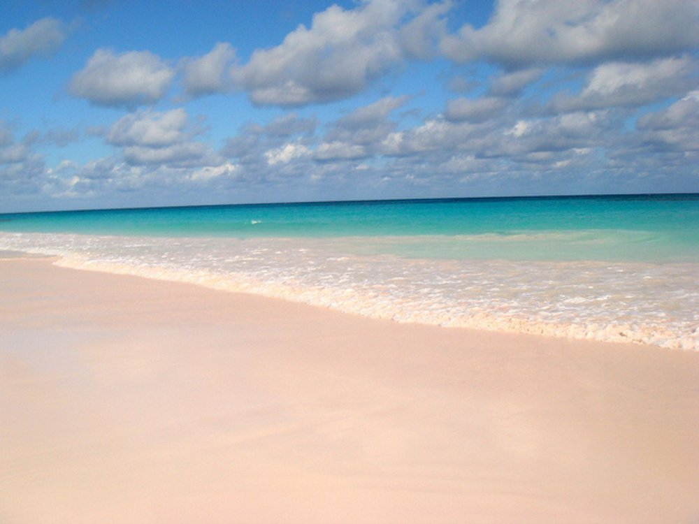 Pink Sands Beach, Harbour Island, Bahamy.